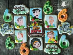 Hand painted birthday cookies for a Wild Kratts fan Baby Birthday, Birthday Ideas, Wild Kratts, Birthday Cookies, Cookie Decorating, Chloe, Sweet Treats, Hand Painted, Fan