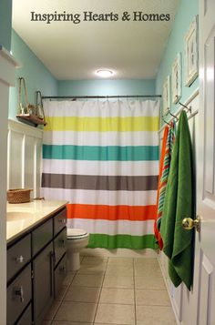 neutral kids bathroom circo cool rugby stripes shower curtain rugby shower 13804