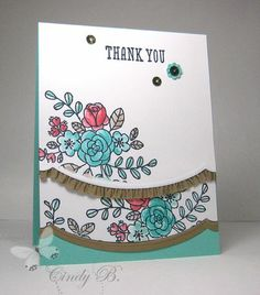 I love to watercolor! So Very Grateful set by Stampin' Up!