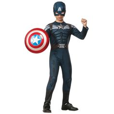 Captain America The Winter Soldier Deluxe Stealth Costume - Halloween - Holiday & Seasonal | Tv's Toy Box
