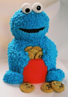 Cookie Monster Cake, ile leave this one to the professionals ...