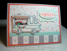 Tasty Trucks, Cycle Celebrations, Shaker Card, Sale-A-Bration 2017, Stampin' Up, Handmade, Birthday Card,