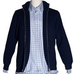 Blouson Zip Cashmere & Flannel Shirt....cause it's so cold!