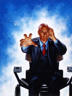Professor Charles Francis Xavier is a fictional character appearing in American comic books published by Marvel Comics and is the founder and leader of the X-Men. Created by writer Stan Lee and artist Jack Kirby, the character first appeared in The X-Men Comic Book Characters, Comic Book Heroes, Marvel Characters, Comic Character, Comic Books Art, X Men, Charles Xavier, Francis Xavier, Univers Marvel