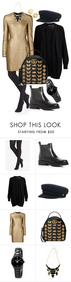 """""""12"""" by pollidolgyshina on Polyvore featuring мода, Express, Cole Haan, Object Collectors Item, Creatures of the Wind, Gucci, Rado и Kenneth Cole"""