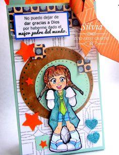 Silvia Scrap: Reto # 17 en Zuri Artsy Craftsy. Dia del Padre Digi: Elvira de Zuri Artsy Craftsy