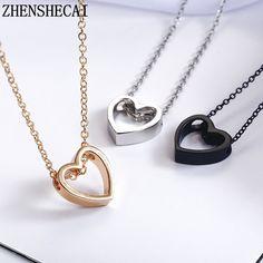 CS-DB Silver Design Luxury AAA Cubic Zirconia Korean Pendants Necklaces For Womens