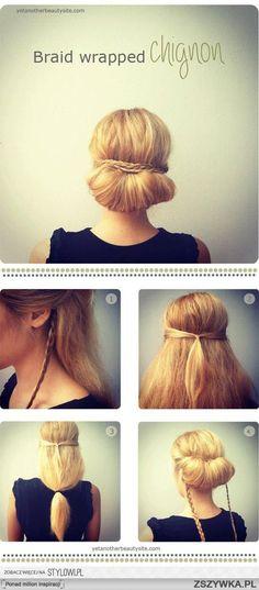 Brilliant The Twist Flip Bun Updo The Beauty And Twist Bun Short Hairstyles Gunalazisus