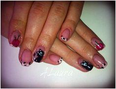 French Nails Model - cat nails model - funny model