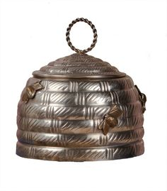 Dessau Home Antique Silver Brass Beehive Box S606 ( Set of 2 ) - Dessau Home Antique Brass Beehive Box R350SKU: S606Manufacturer: Dessau HomeCategory: Decorative AccessoriesMaterial: BrassFinish: SilverType: Accent BoxStyle: ContemporaryMinimum Quantity: 2Country of Manufacturer: IndiaDimensions: 7H x 7D