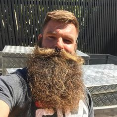 Wavy LongBeard #barbershop Epic Beard, Gay Beard, Beard No Mustache, Great Beards, Awesome Beards, Beard Styles For Men, Hair And Beard Styles, Moda Masculina, Tattoos