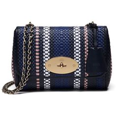 63d04b1400 Mulberry - Blue Lily Small Woven Raffia And Leather Shoulder Bag - Lyst