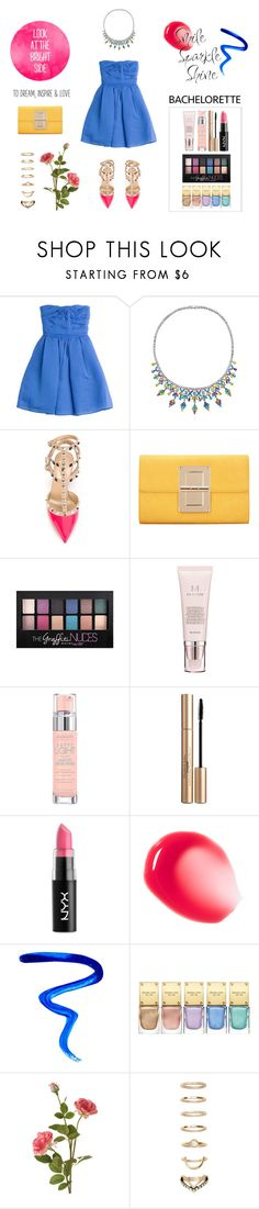 """Dress Rachel for the Bachelorette!"" by ready2wear ❤ liked on Polyvore featuring Carven, Fallon, Valentino, Maybelline, Missha, Bourjois, Elizabeth Arden, NYX, Givenchy and Michael Kors"