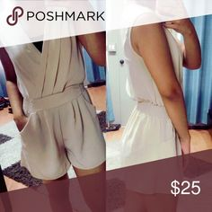 Comfy beige romper ❤️💋 Awesome romper to dress up with heals and accessories or dress down with a knitted cardigan!! Beautiful staple Other