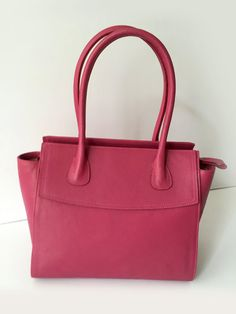 SALE ! Leather tote, Pink leather tote, Leather satchel tote, Leather tote women, Leather bag, Leather tote bag, Leather purse, Pink bag