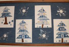 Vánoční stromy - balicí papír