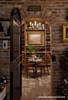 The Golden's love of wine inspired one of their early trips abroad as well as the addition of a cellar to their home.
