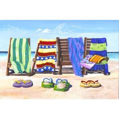 Artist: Scott Westmoreland<br>Title: Sandals And Seats <br>Type: Gallery wrapped canvas