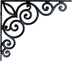 Cast Iron Victorian Scroll Shelf Bracket from Antique Revelry
