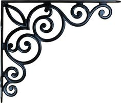 Cast Iron Victorian Scroll Shelf Bracket from Antique Revelry