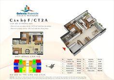 Căn hộ F, 3 phòng ngủ. Tòa căn hộ CT2A - Chung cư Gelexia Riverside - 885 Tam Trinh