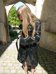 Taifun Lack Regenmantel Raincoat Trenchcoat PVC Vintage Lackmantel shiny | eBay