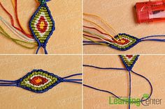 Then just look here, this Pandahall tutorial on how to make ethnic braided friendship bracelet with nylon thread is a perfect choice for you. Macrame Jewelry, Diy Jewelry, Handmade Jewelry, Jewelry Making, Friendship Bracelets Designs, Bracelet Designs, Diy Fashion Projects, How To Make Necklaces, Braided Bracelets