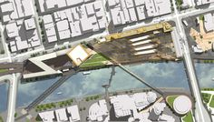 Flinders Street Station Design Competition - People's Choice Award - NH Architecture - Precinct masterplan