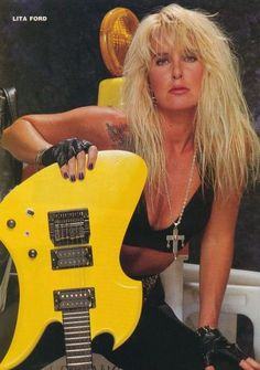 LITA FORD. I was just happy there was a female in metal. I only like 3 of her songs though.