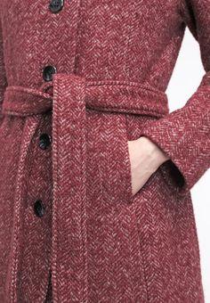 Red Wool coat by Noa Noa