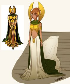 When I'm too tired to focus on anything else I draw costumes( Sigyn )