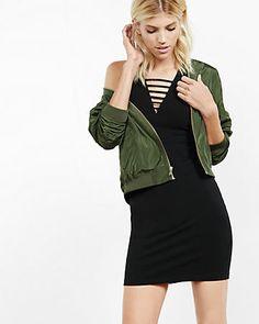 strappy deep v-neck tank dress