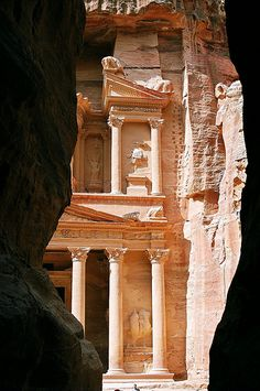 Petra - Jordan One of the Seven Man-Made Wonders of the World.