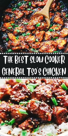 The best slow cooker general tsos chicken 2 master of taste slow cooker shrimp boil Bbq Chicken Pizza, Tso Chicken, Chicken Cooker, Asian Chicken Slow Cooker, Chinese Slow Cooker Recipes, Chinese Chicken Recipes, Slow Cooked Chicken, Crockpot Chicken Healthy, Crockpot Recipes