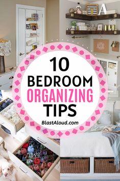 Small Bedroom Hacks, Small Bedroom Organization, Dresser Organization, Organization Skills, Organisation Ideas, Household Organization, Small Bedrooms, Organizing Tips, Organizing Your Home