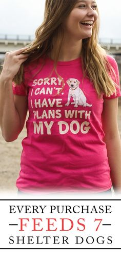 Would you wear this shirt?  **Every purchase feeds 7 shelter dogs!