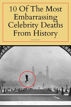 Ironic, shocking, or just plain gross, these embarrassing celebrity deaths from history show that not everyone gets to go out with dignity. Famous Celebrities, Beautiful Celebrities, Best Puns, Celebrity Deaths, Weird World, Fun Facts, Celebrity Style, Funny Memes, Relationship