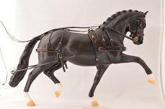Harness by Charlotte Pijnenburg on a model horse