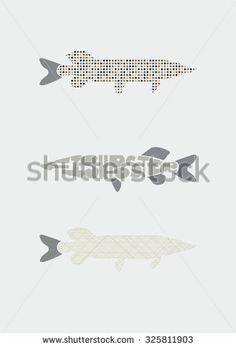 Poster in Scandinavian style, fish print.