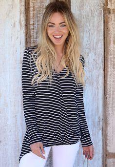 Blusa Love Stripes » POP SHELL HOLIDAY