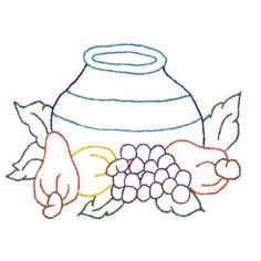 Kit de Pano de Prato com Risco para Pintura ou Bordado - Frutas