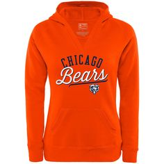 df38ff40183 Chicago Bears NFL Pro Line by Fanatics Branded Women s Showtime White Out  Deep V Hoodie –