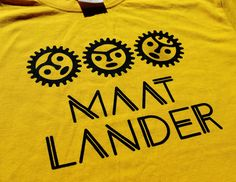 "Logo for ""Maat Lander"". Silk screen print."