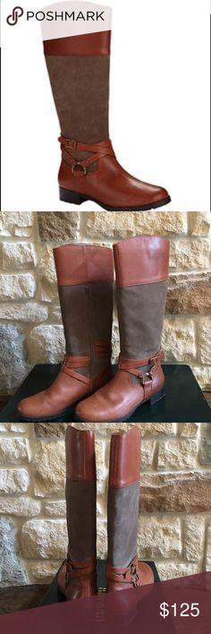 Spotted while shopping on Poshmark: Ralph Lauren Leather Riding Boot! #poshmark #fashion #shopping #style #Lauren Ralph Lauren #Shoes