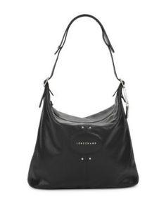 LONGCHAMP Textured Leather Handbag. #longchamp #bags #shoulder bags #leather #lining #