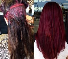 Behind The Chair - red formula Matrix SOCOLOR Formula: 3 oz. 5VR + ½ oz. 3VR + 1…