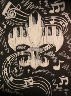 New Orleans native J.H. Ruth III uses local culture as inspiration for his art, but his signature is the Fleur de Lis painted on various mediums. Check out his website for more info!