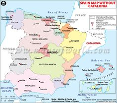 24 best Spain Maps images on Pinterest   Spain, Spanish and Cards