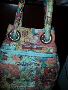 If you want a purse with a lot of pockets, depth and roomy, this is it!  An intermediate project.  Quilted and roomy!!