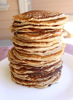 Cottage Cheese Pancakes. I made these the other day for the first time. They are so good!:) Everyone needs to try them.